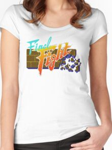 Final Fight (SNES) Title Screen Women's Fitted Scoop T-Shirt