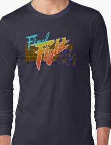 Final Fight (SNES) Title Screen Long Sleeve T-Shirt