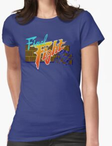 Final Fight (SNES) Title Screen Womens Fitted T-Shirt