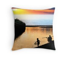 Return From the Beach  Throw Pillow