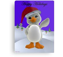 Holiday Penguin Metal Print