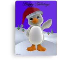 Holiday Penguin Metal Print