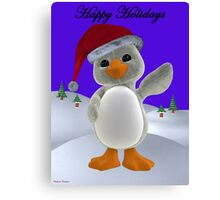 Holiday Penguin Canvas Print