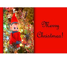 Vintage Elf Card Photographic Print