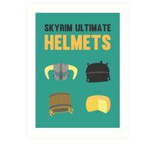 Skyrim ultimate helmets Art Print