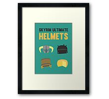 Skyrim ultimate helmets Framed Print