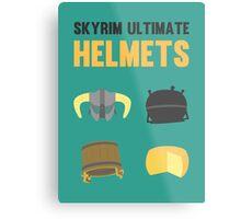 Skyrim ultimate helmets Metal Print