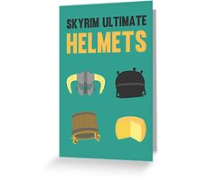 Skyrim ultimate helmets Greeting Card