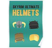 Skyrim ultimate helmets Poster