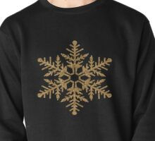 Gold Faux Glitter Snowflake   Pullover