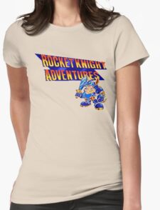 Rocket knight Adventures (Snes) Title Screen Womens Fitted T-Shirt