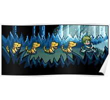 Pixel Jurassic World Poster