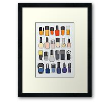 My nail polish collection Framed Print
