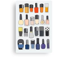 My nail polish collection Canvas Print