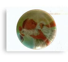Precious Baby Plate Canvas Print