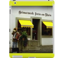 Street Musician in Stein-Am-Rhein iPad Case/Skin