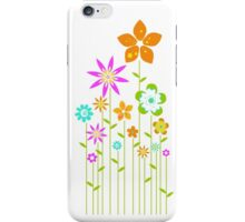 colorful stick flowers iPhone Case/Skin