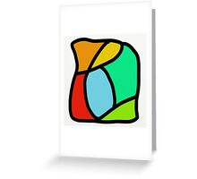BOLD COLORFUL ABSTRACT ART Greeting Card