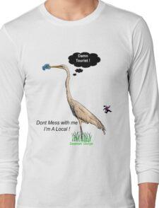 Damn Tourist ! with Savannah, Georgia logo Long Sleeve T-Shirt