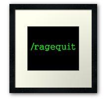 Ragequit Gamer Framed Print