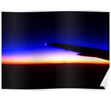Sunset above the clouds... Poster