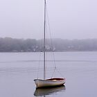 Sailboat in Fog by Debra Fedchin