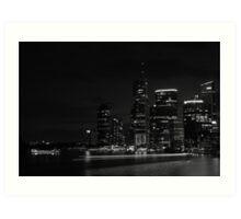 Brisbane City-02 Art Print