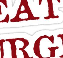 Meat is Burger Sticker