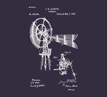 1889 Aldrich Windmill Patent Art Unisex T-Shirt