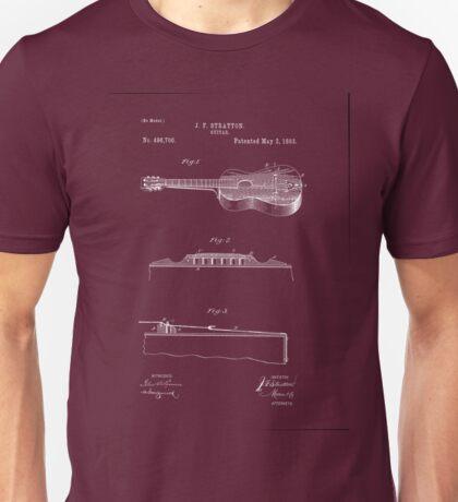1893 Stratton Guitar Patent Art Unisex T-Shirt
