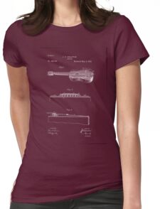 1893 Stratton Guitar Patent Art Womens Fitted T-Shirt