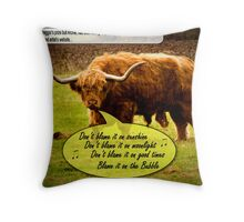 Blame it on the Bubble Throw Pillow