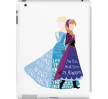 Elsa and Anna with Lyrics iPad Case/Skin