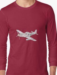 North American Aviation P-51 Mustang Long Sleeve T-Shirt