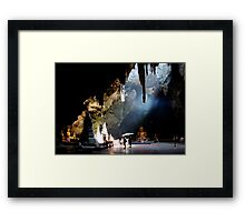 Cave Temple Framed Print