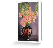 striped vase Greeting Card