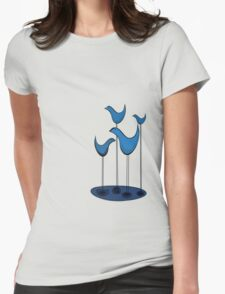 Blue Birds chatting the way blue birds chat in a puddle of blue T-Shirt