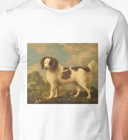 George Stubbs - Brown And White Norfolk Or Water Spaniel (1778) Unisex T-Shirt
