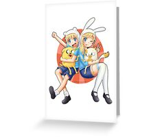 Anime Adventure Time! Greeting Card