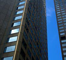 Buildings - Blue Stripe by FuriousEnnui