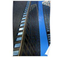 Buildings - Blue Stripe Poster