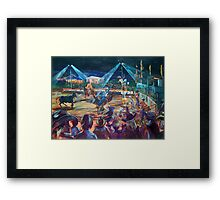 Rodeo time! Roma's Easter in the country series Framed Print