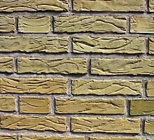 Details of yellow bricks by Ron Zmiri