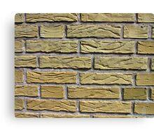 Details of yellow bricks Canvas Print