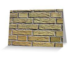 Details of yellow bricks Greeting Card