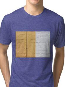 Yellow white bricks wall Tri-blend T-Shirt