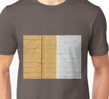 Yellow white bricks wall Unisex T-Shirt