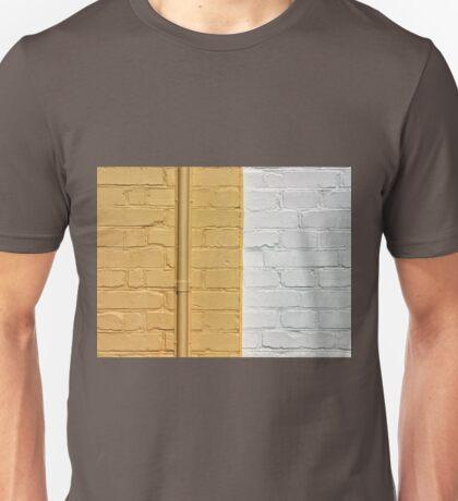 Yellow white bricks wall Unisex T-Shirt