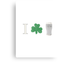 I (shamrock) Guinness Canvas Print
