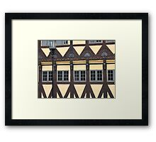 Traditional decorated house in Denmark Framed Print